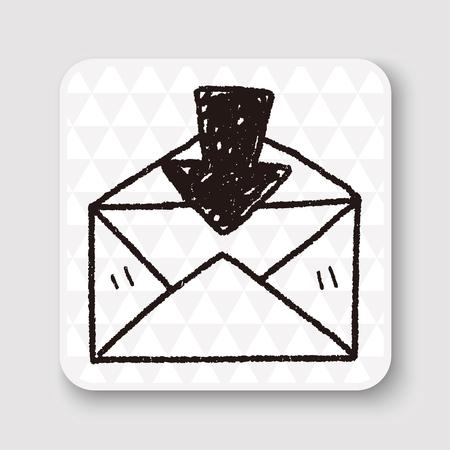 mail: mail doodle Illustration