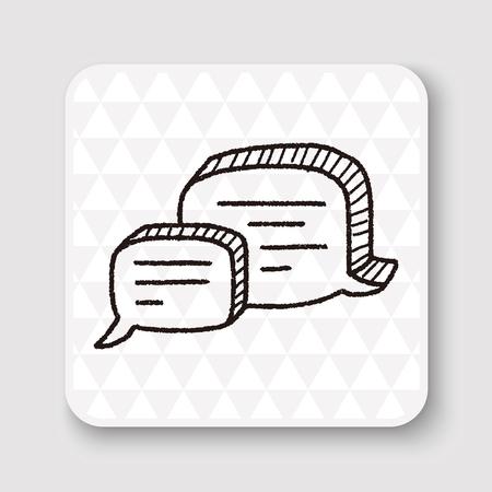 talking bubble: people talk doodle Illustration