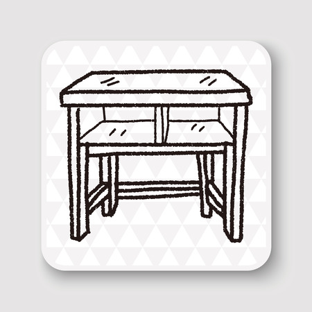 on the table: table doodle