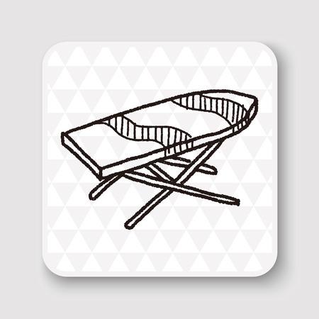 iron: iron board doodle Illustration