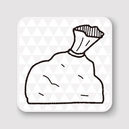 bolsa de basura del doodle
