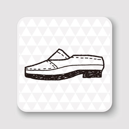 leather shoe: doodle leather shoe Illustration