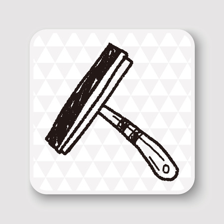 tidy: squeegee doodle Illustration