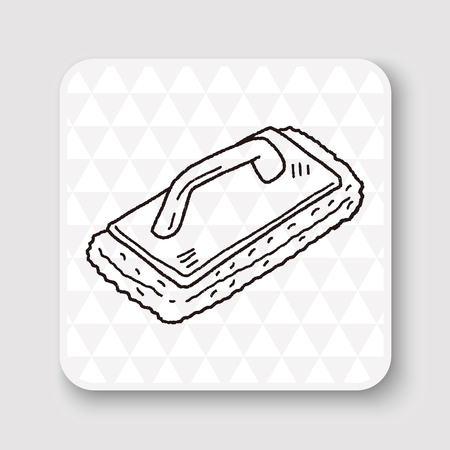 carpet clean: cleaning tool doodle