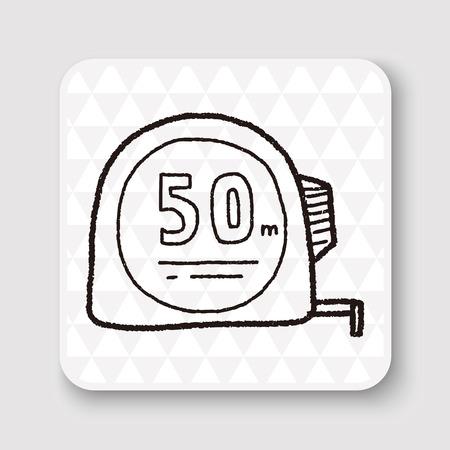 cintas metricas: doodle del gobernante
