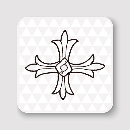 royal: royal cross doodle Illustration