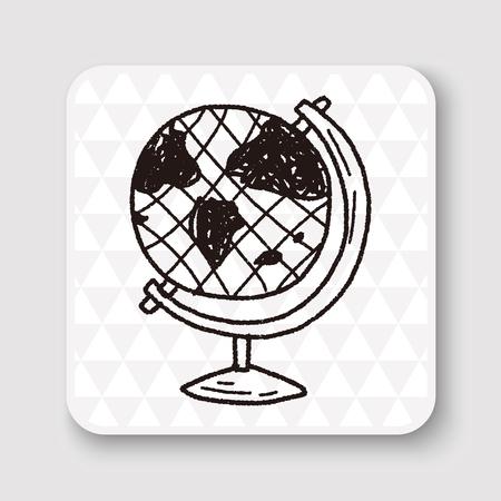 hand pen: doodle globe