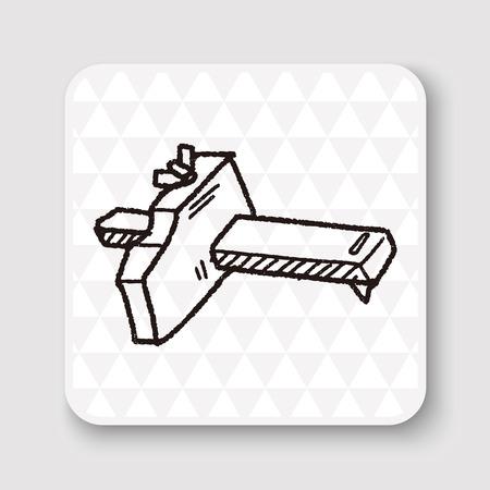 calliper: measuring tool doodle Illustration