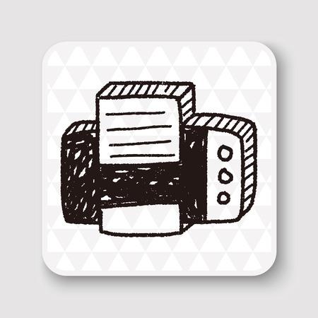printer drawing: doodle printer