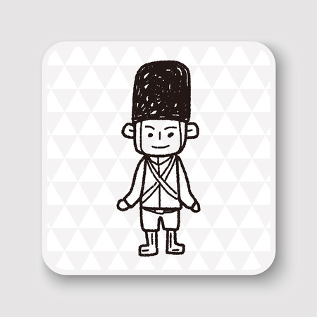 beefeater: England Soldier doodle
