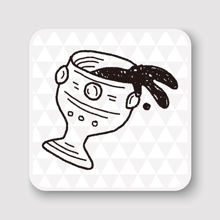 wineglass: wineglass doodle Illustration