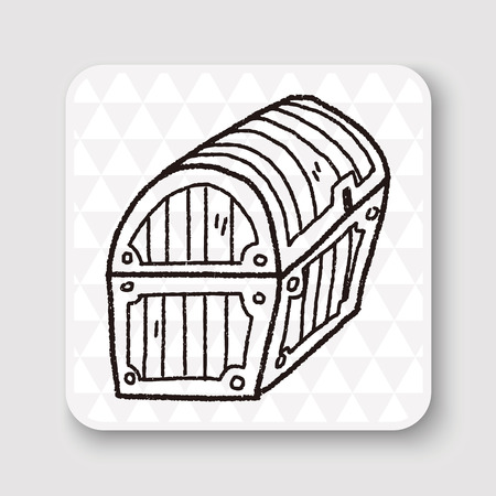 gold treasure: treasure chest doodle
