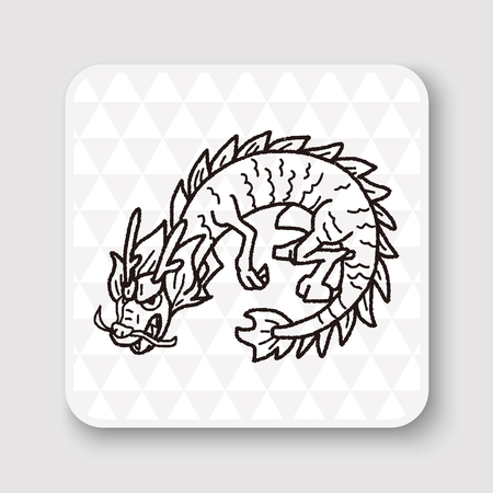 dragon tattoo design: Chinese dragon doodle