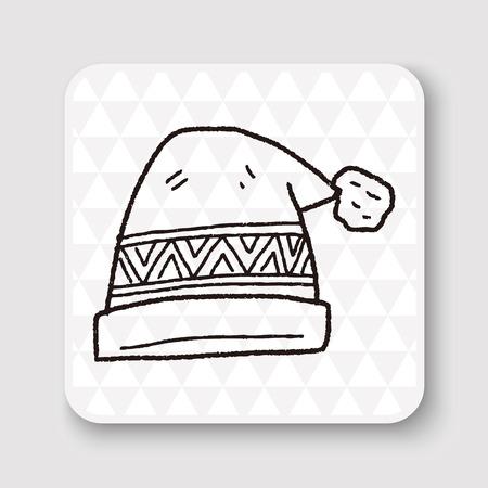 winter hat: winter hat doodle