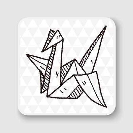 wings bird: paper bird doodle