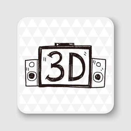 3d tv doodle