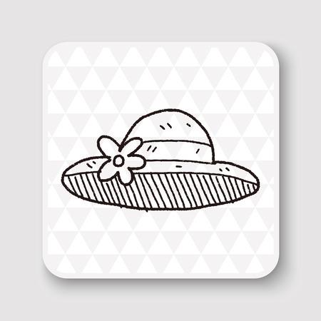 straw: doodle Straw hat