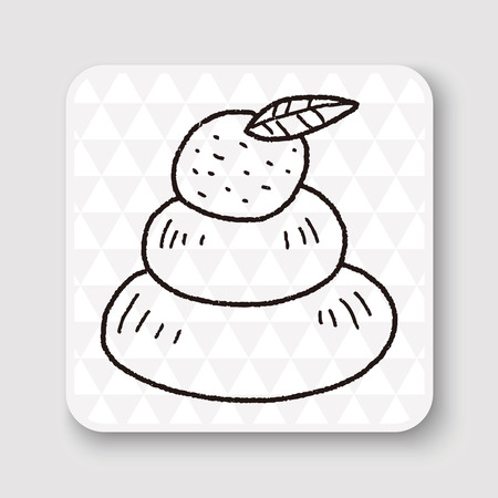 mortal: japanese new year cake doodle