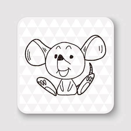 mouse trap: Chinese Zodiac mouse doodle drawing