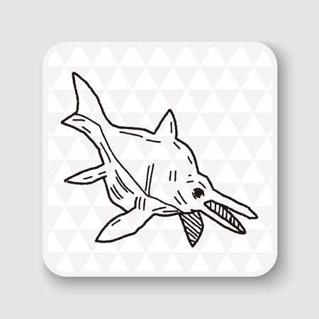 prehistoric fish: fish dinosaur doodle