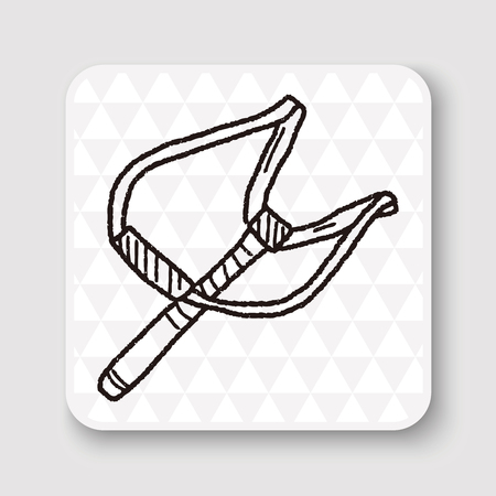 slingshot: Slingshot doodle Illustration