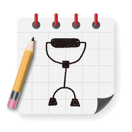 crutch: crutch doodle drawing