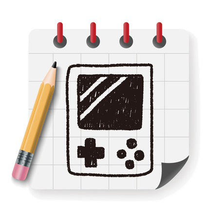 handheld: Handheld game doodle drawing