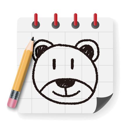 baby bear: baby bear doodle drawing