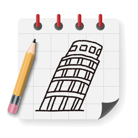 pisa: doodle Leaning Tower of Pisa