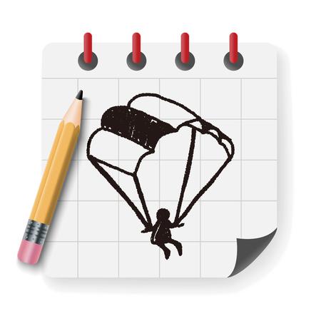 skydiver: Doodle Parachute