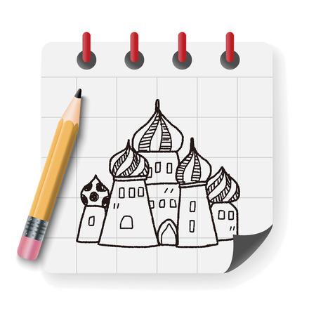 basilica: russia castle doodle