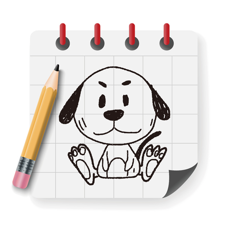 labrador doodle: Chinese Zodiac dog doodle drawing