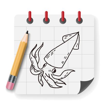 cephalopod: Squid doodle
