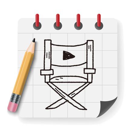 De stoel van de doodle