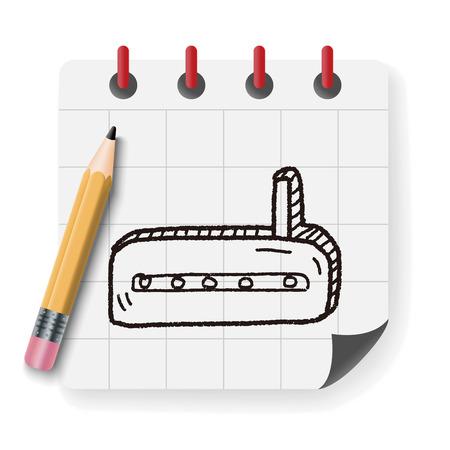 modem: doodle modem Illustration