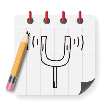 tuning: tuning fork doodle Illustration