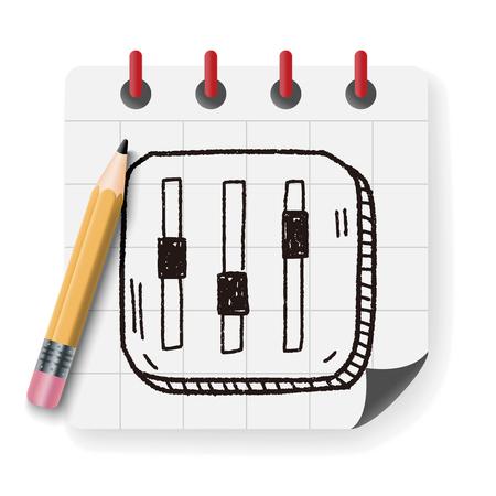 volume: volume doodle Illustration