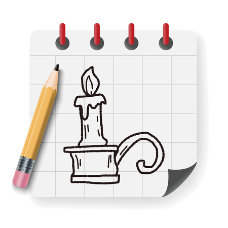 candlestick: candlestick doodle