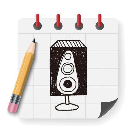 woofer: speaker doodle Illustration