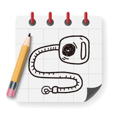 collarin: cuerda del collar del doodle Vectores