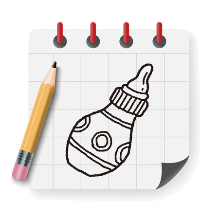 bottle feeding: Doodle Feeding bottle