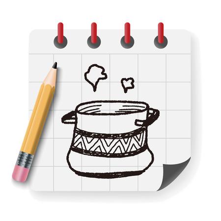 pan: pan doodle Illustration