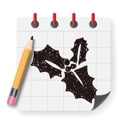 poinsettia: poinsettia doodle Illustration