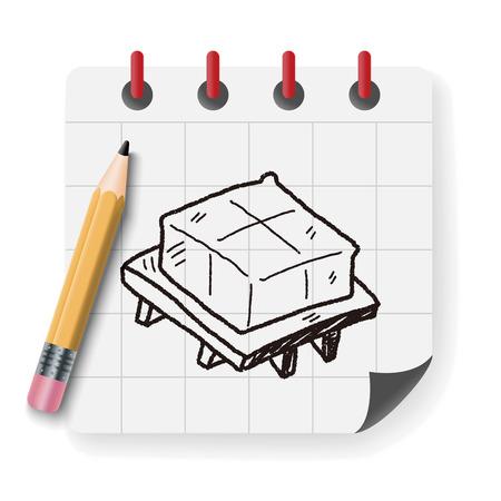 tofu: tofu doodle Illustration