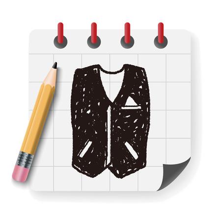 sleeveless hoodie: vest doodle Illustration