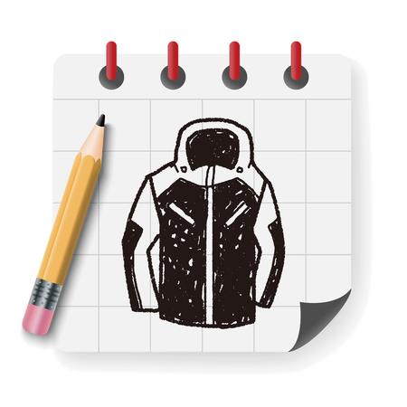 woman in fur coat: sport coat doodle