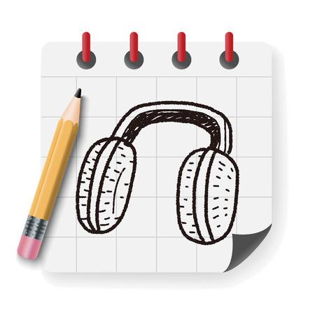 warmer: Earmuffs doodle Illustration