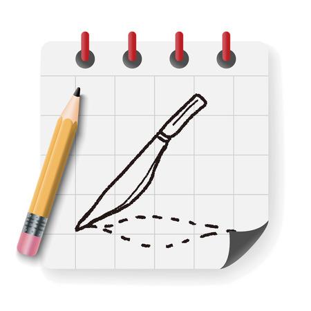 scalpel: Scalpel doodle drawing