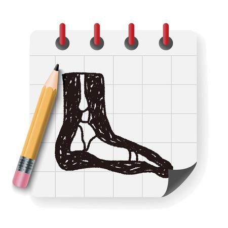 xray: x-ray foot doodle