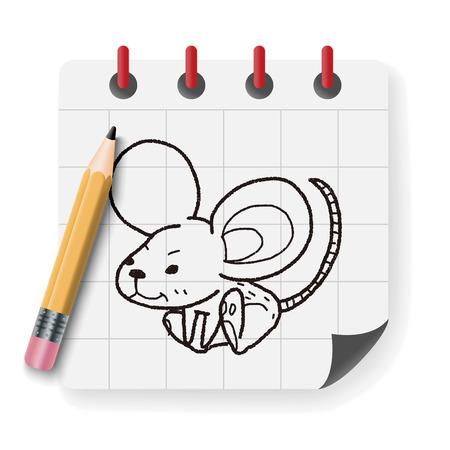 mouse trap: mouse doodle